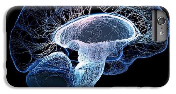 Cross iPhone 8 Plus Case - Human Brain Complexity by Johan Swanepoel