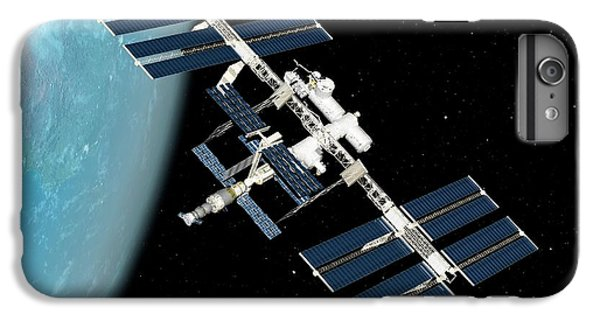 International Space Station iPhone 8 Plus Case - International Space Station by Sciepro/science Photo Library