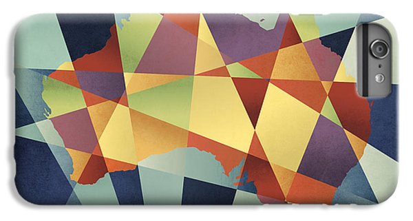 Contemporary iPhone 8 Plus Case - Australia Geometric Retro Map by Michael Tompsett