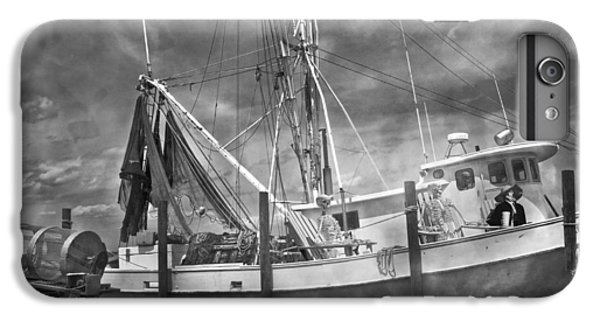 Shrimp Boats iPhone 8 Plus Case - Shrimpin' Boat Captain And Mates by Betsy Knapp