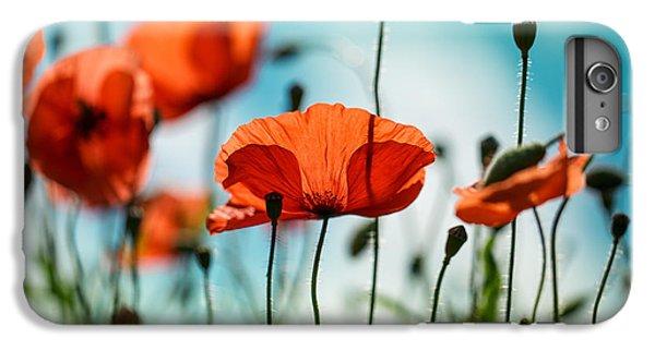 Red iPhone 8 Plus Case - Poppy Meadow by Nailia Schwarz