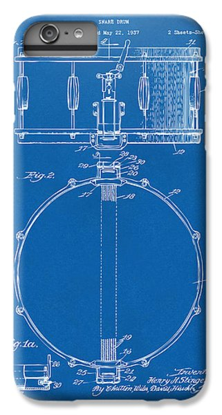 Drum iPhone 8 Plus Case - 1939 Snare Drum Patent Blueprint by Nikki Marie Smith