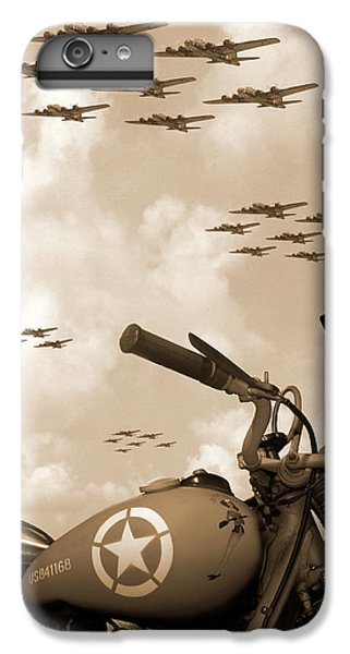 Bicycle iPhone 8 Plus Case - 1942 Indian 841 - B-17 Flying Fortress' by Mike McGlothlen