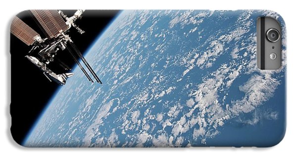 International Space Station iPhone 8 Plus Case - Iss And Space Shuttle by Nasa/science Photo Library
