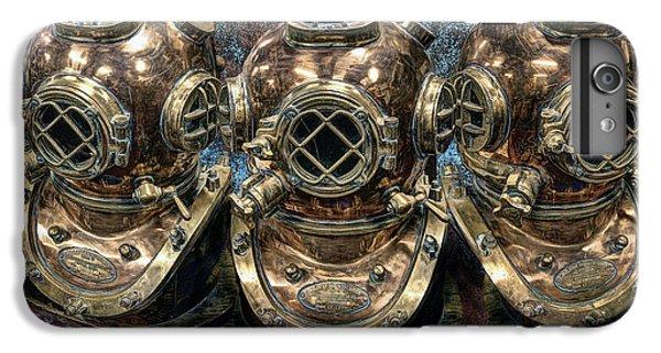 Scuba Diving iPhone 8 Plus Case - 3 Deep-diving Helmets by Daniel Hagerman