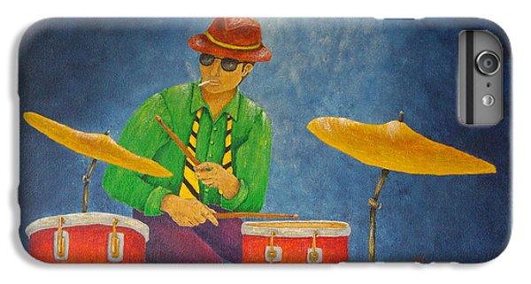 Drum iPhone 8 Plus Case - Jazz Drummer by Pamela Allegretto