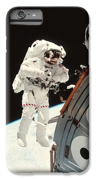 International Space Station iPhone 8 Plus Case - Iss Space Walk by Nasa/science Photo Library