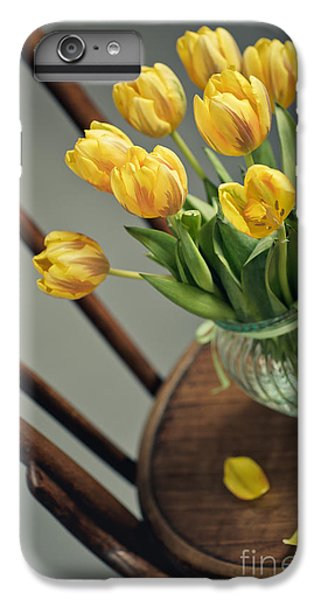 Tulip iPhone 8 Plus Case - Still Life With Yellow Tulips by Nailia Schwarz