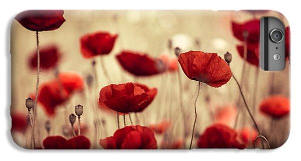 Red iPhone 8 Plus Case - Summer Poppy by Nailia Schwarz