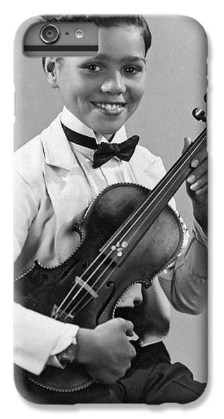 Violin iPhone 8 Plus Case - A Proud And Elegant Violinist by Underwood Archives