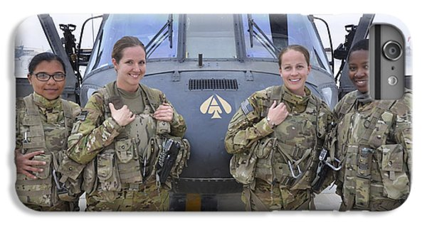 Helicopter iPhone 8 Plus Case - A U.s. Army All Female Crew by Stocktrek Images