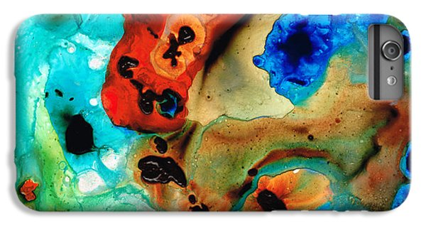 Scuba Diving iPhone 8 Plus Case - Abstract 4 - Abstract Art By Sharon Cummings by Sharon Cummings