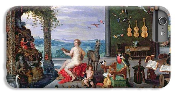 Trombone iPhone 8 Plus Case - Allegory Of Music Oil On Canvas by Jan the Elder Brueghel