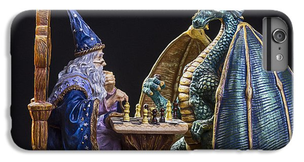 Dungeon iPhone 8 Plus Case - An Epic Chess Match by Bill Tiepelman