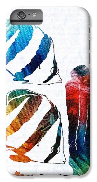 Scuba Diving iPhone 8 Plus Case - Angel Fish Art - Little Angels 2 - By Sharon Cummings  by Sharon Cummings