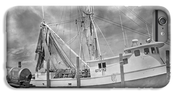 Shrimp Boats iPhone 8 Plus Case - At Rest In The Harbor by Betsy Knapp