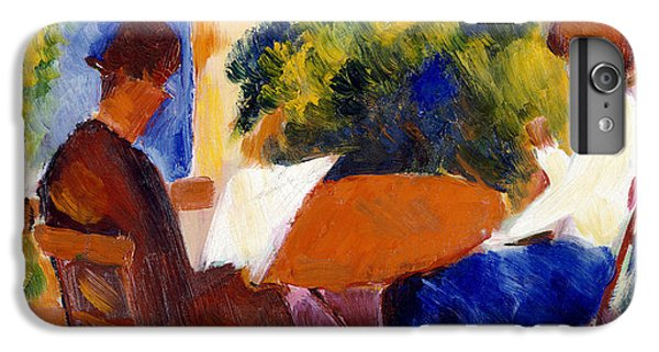 Garden iPhone 8 Plus Case - At The Garden Table by August Macke
