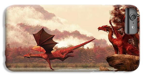 Dungeon iPhone 8 Plus Case - Autumn Dragons by Daniel Eskridge