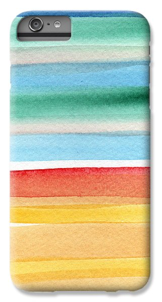 For iPhone 8 Plus Case - Beach Blanket- Colorful Abstract Painting by Linda Woods