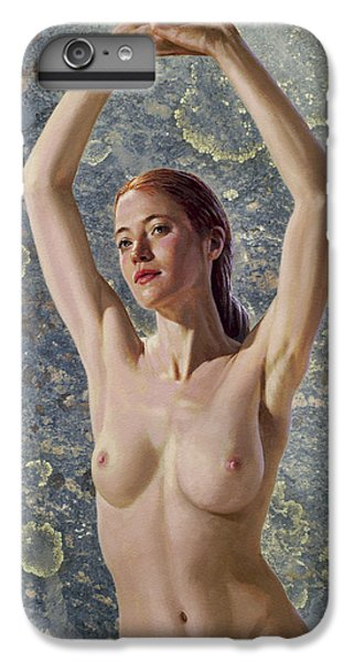 Nudes iPhone 8 Plus Case - Becca In Lichen Rock by Paul Krapf