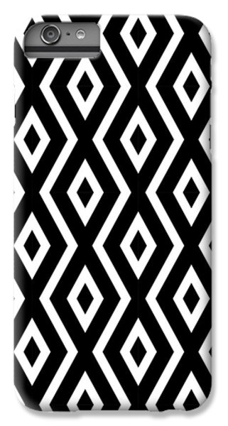 Beach iPhone 8 Plus Case - Black And White Pattern by Christina Rollo