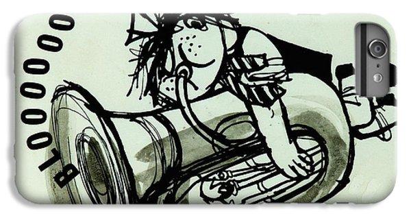 Trombone iPhone 8 Plus Case - Blooooob! Ink On Paper by Brenda Brin Booker