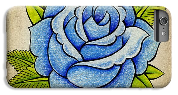 Rose iPhone 8 Plus Case - Blue Rose by Samuel Whitton