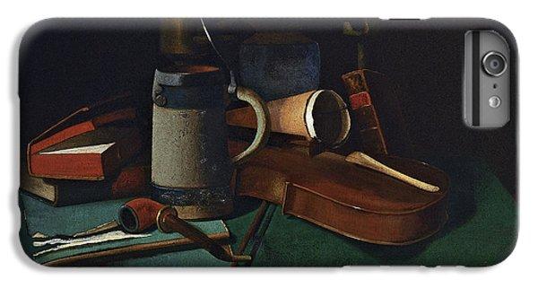 Violin iPhone 8 Plus Case - Books Mug Pipe And Violin by John Frederick Peto
