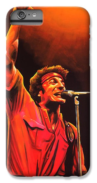 Rock And Roll iPhone 8 Plus Case - Bruce Springsteen Painting by Paul Meijering
