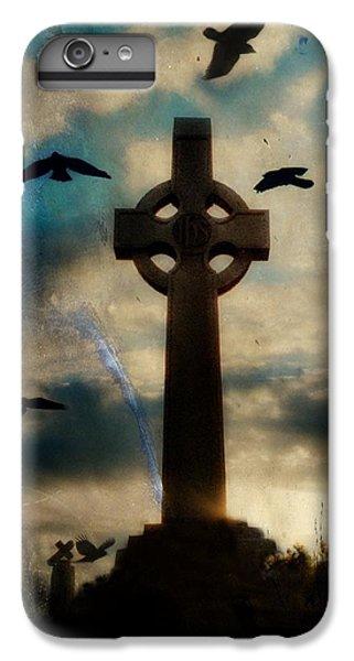 Celtic Cross iPhone 8 Plus Case - Celtic Blue by Gothicrow Images