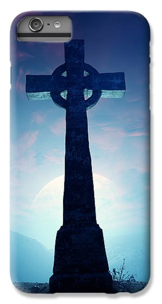 Celtic Cross iPhone 8 Plus Case - Celtic Cross With Moon by Johan Swanepoel