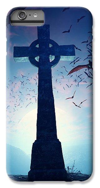 Cross iPhone 8 Plus Case - Celtic Cross With Swarm Of Bats by Johan Swanepoel