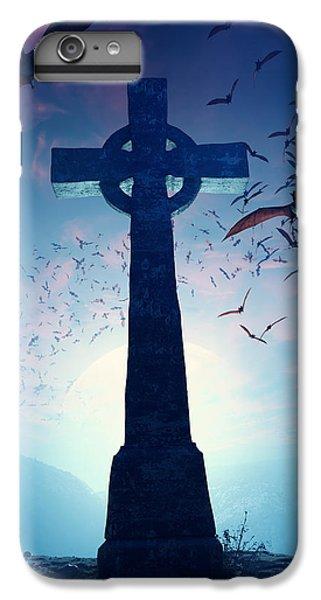 Celtic Cross iPhone 8 Plus Case - Celtic Cross With Swarm Of Bats by Johan Swanepoel