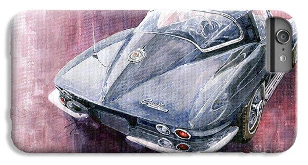 Car iPhone 8 Plus Case - Chevrolet Corvette Sting Ray 1965 by Yuriy Shevchuk