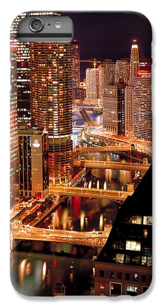 Chicago River iPhone 8 Plus Case - Chicago River At Night by Thomas Firak
