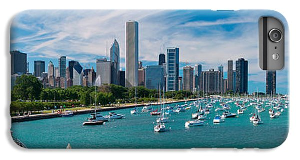City Scenes iPhone 8 Plus Case - Chicago Skyline Daytime Panoramic by Adam Romanowicz