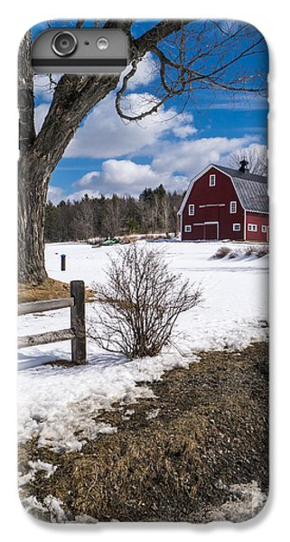New England Barn iPhone 8 Plus Case - Classic New England Farm Scene by Edward Fielding