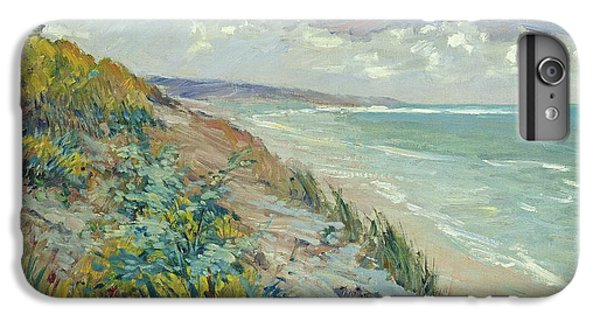 Beach iPhone 8 Plus Case - Cliffs By The Sea At Trouville  by Gustave Caillebotte