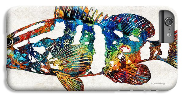 Scuba Diving iPhone 8 Plus Case - Colorful Grouper 2 Art Fish By Sharon Cummings by Sharon Cummings