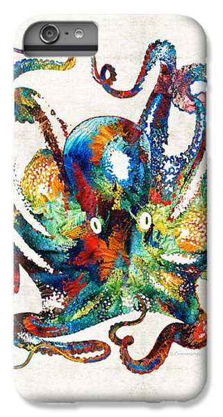 Scuba Diving iPhone 8 Plus Case - Colorful Octopus Art By Sharon Cummings by Sharon Cummings