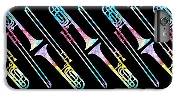 Trombone iPhone 8 Plus Case - Colorwashed Trombones by Jenny Armitage