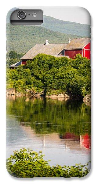 New England Barn iPhone 8 Plus Case - Connecticut River Farm by Edward Fielding