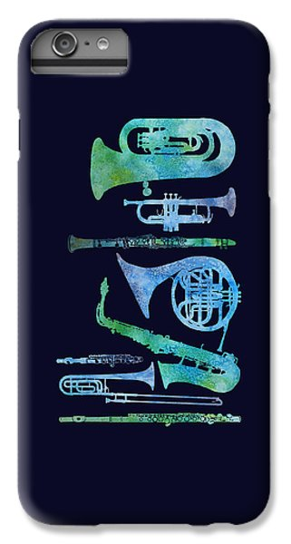 Trombone iPhone 8 Plus Case - Cool Blue Band by Jenny Armitage