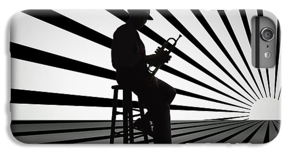 Trumpet iPhone 8 Plus Case - Cool Jazz 2 by Peter Awax