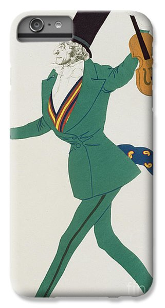 Violin iPhone 8 Plus Case - Costume Design For Paganini In The Enchanted Night by Leon Bakst