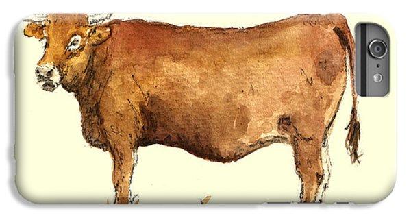 Cow iPhone 8 Plus Case - Cow by Juan  Bosco