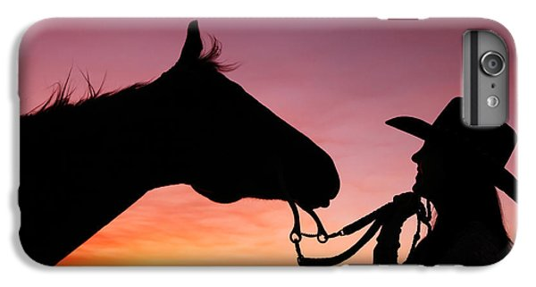 Horse iPhone 8 Plus Case - Cowgirl Sunset by Todd Klassy