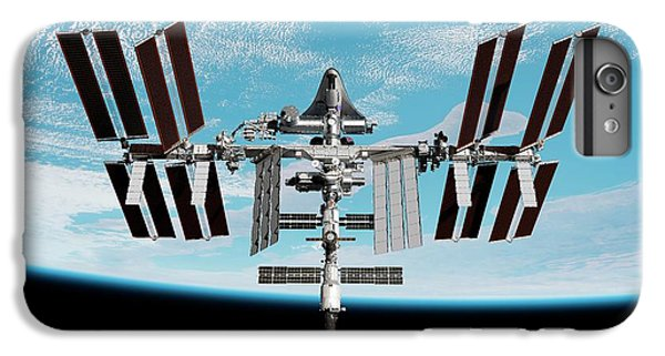 International Space Station iPhone 8 Plus Case - Cruise Shuttle Docked With The Iss by Nasa/walter Myers/science Photo Library