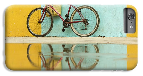Bicycle iPhone 8 Plus Case - Cuba, Trinidad Bicycle And Reflection by Brenda Tharp