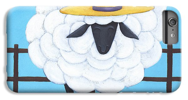 Sheep iPhone 8 Plus Case - Cute Sheep Nursery Art by Christy Beckwith